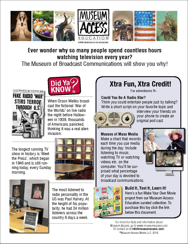 Educational Fun Sheets: Season 1 - Museum Access
